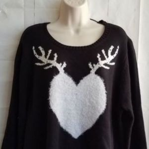 Style & Co Crewneck Sweater Plus Sz 1X 2X 3X Black